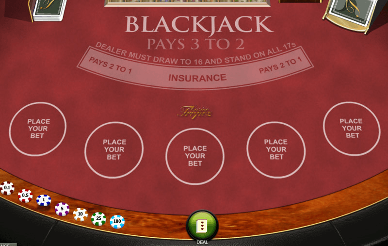 Casino tropez blackjack game screenshot