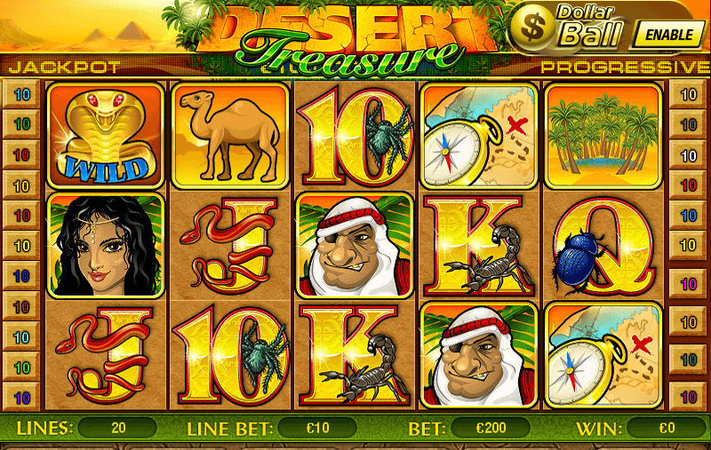 Casino Tropez desert slots game screenshot