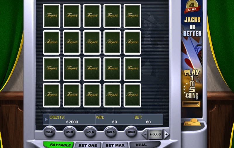 Casino Tropez video poker game screenshot