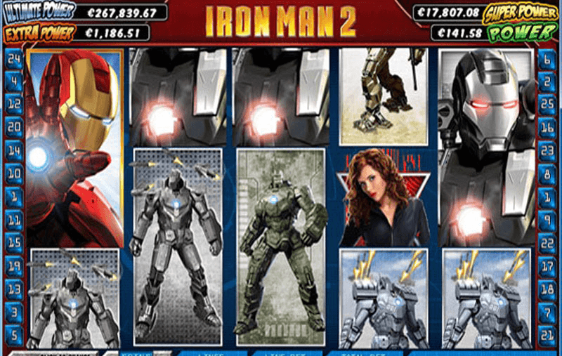 Titan Casino iron man 2 slots game screenshot